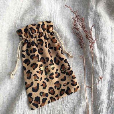 Sac cadeau leopard velours