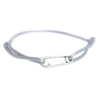 Safety pin bracelet argent