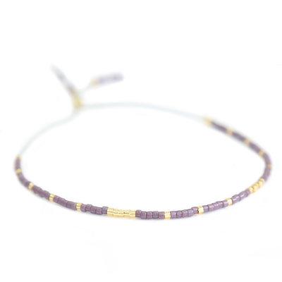 Miyuki bracelet lilas