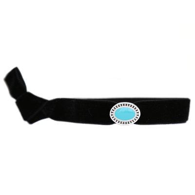 Velvet armbandje charm turquoise