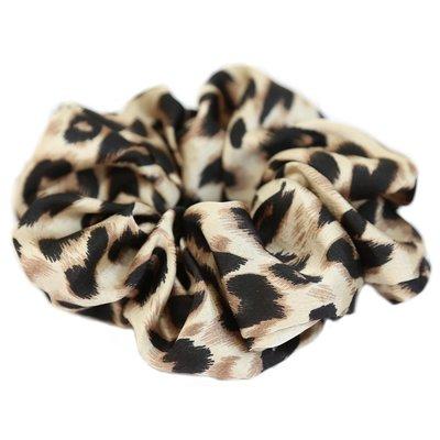 Chouchou léopard satiné