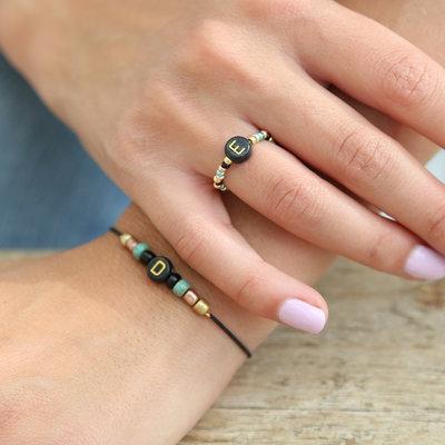 SET - Bracelet initial et bague initiale
