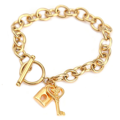 Bracelet lock and key or