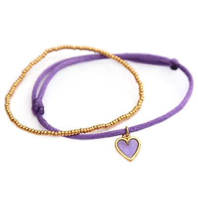 Bracelets lilac love or