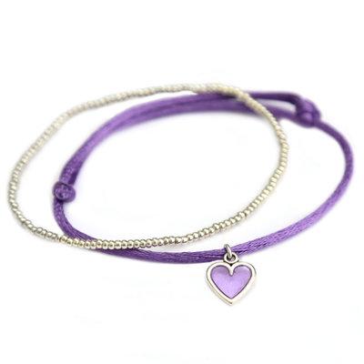 Bracelets lilac love silver