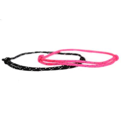 Bracelet set surf culture pink