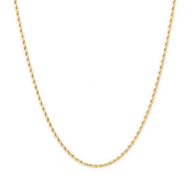 Collier twisted gold