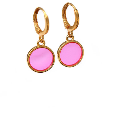 Boucles d'oreilles glass pink