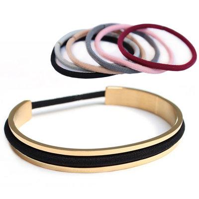 Bracelet élastique pour cheveux - or