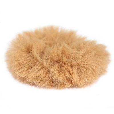 Chouchou faux fur caramel