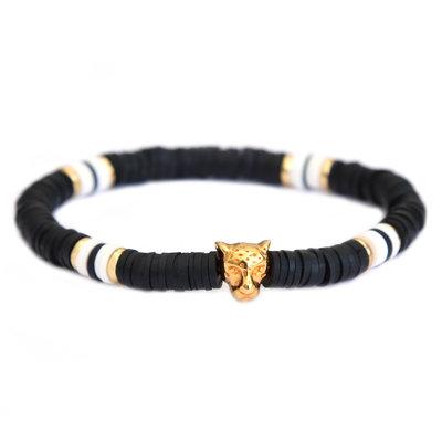 Bracelet leo chic noir