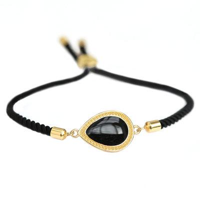 Bracelet Versailles noir or