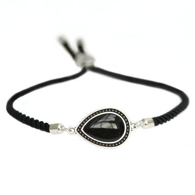 Bracelet Versailles noir argent