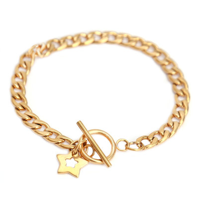 Bracelet chain star or