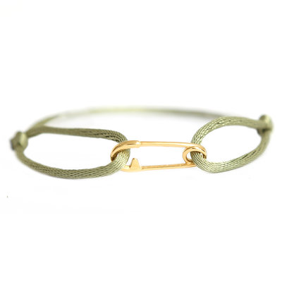 Safety pin bracelet or olive