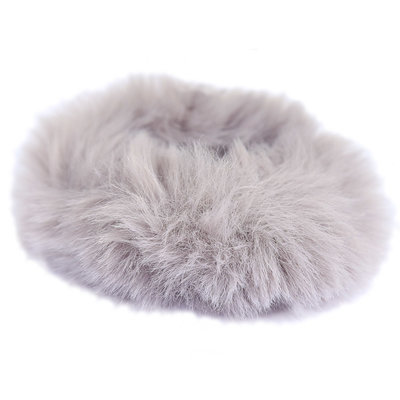 Scrunchie faux fur gris
