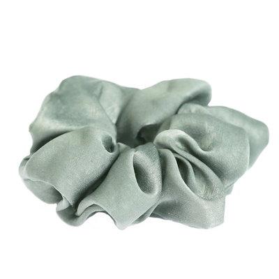 Chouchou en soie Olive clair
