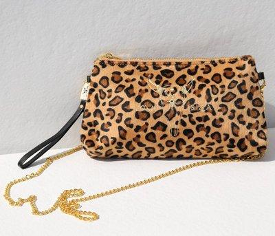 Sac en velours léopard
