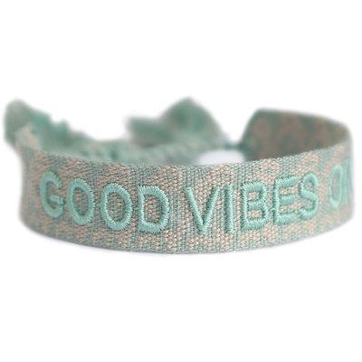 Good vibes only bracelet menthe