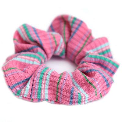 Chouchou pink stripe