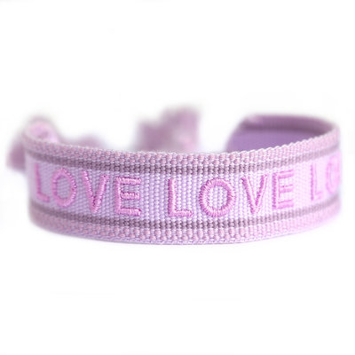 Bracelet tissé lilac LOVE