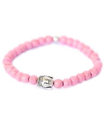 Bracelet Bouddha pierre rose