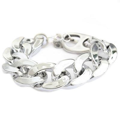 Bracelet large chain argent
