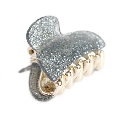 Pince à cheveux small silver sparkle