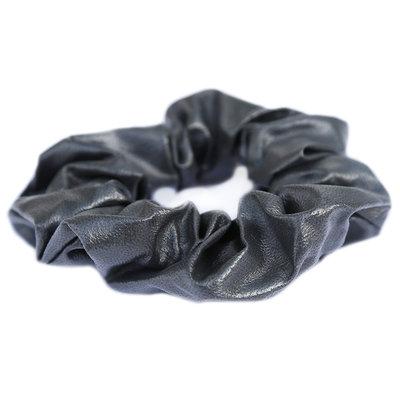 Chouchou faux leather gris