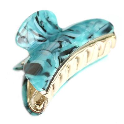 Barrette à cheveux marble blue