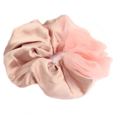 Chouchou Large duo silk-chiffon rose