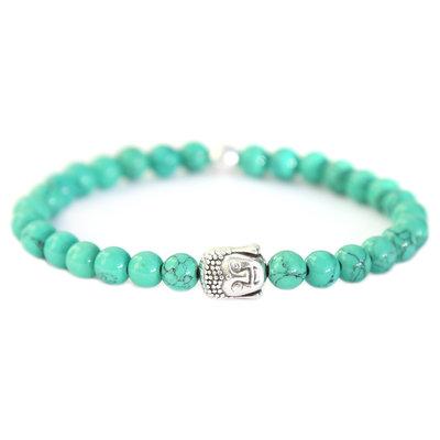 Bracelet Bouddha Pierre marble vert paume