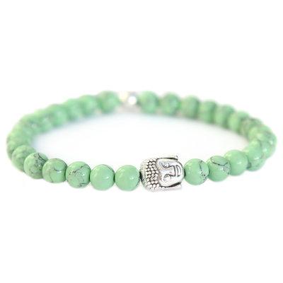 Bracelet Bouddha Pierre marble vert sauge