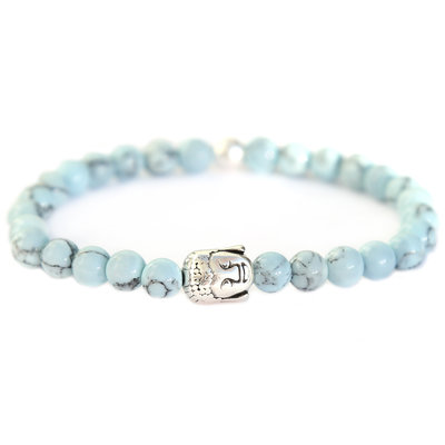 Bracelet Bouddha Pierre marble baby bleu