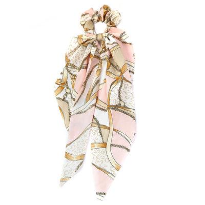 Chouchou écharpe baroque pink