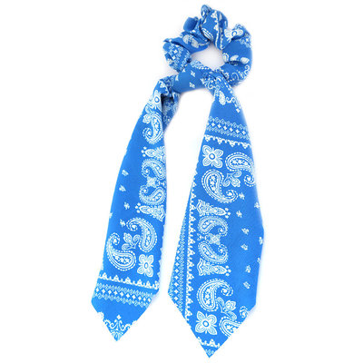 Chouchou écharpe bleu paisley