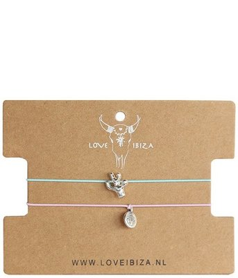Anklet set Cactus/coin silver