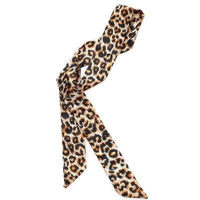 Echarpe en soie leopard