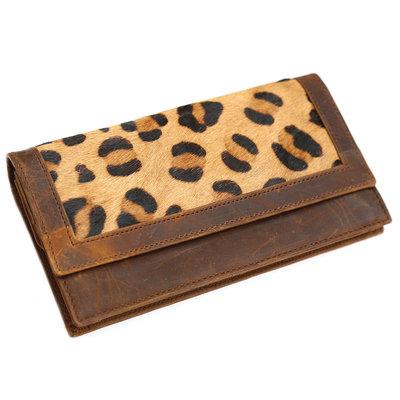 Porte-monnaie fourrure leopard