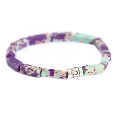 Beachlife bracelet violet turquoise