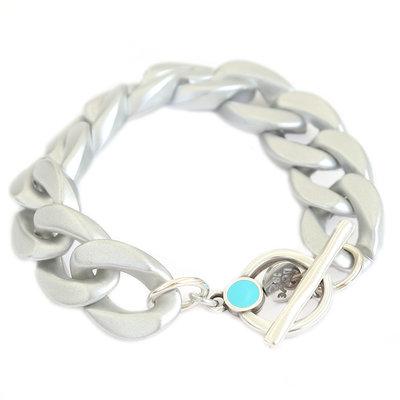 Bracelet chain matte argent