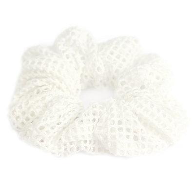 Chouchou mesh white