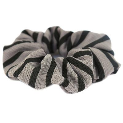 Chouchou stripe gris noir