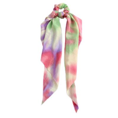 Chouchou écharpe rainbow tie dye