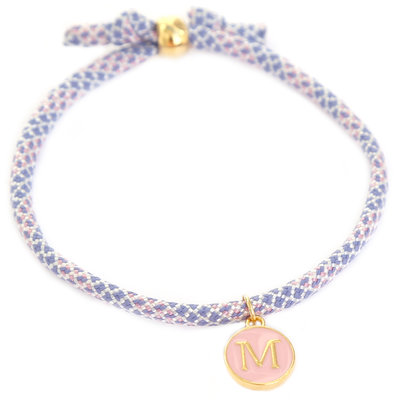 Bracelet initiale lilas