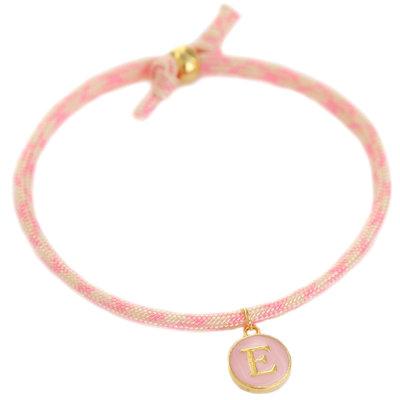 Bracelet initiale soft pink