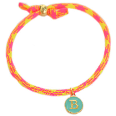 Bracelet initiale neon pink yellow