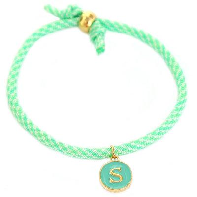 Bracelet initiale menthe