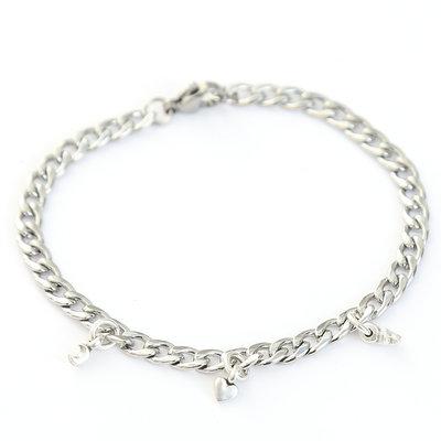 Moon heart star bracelet argent