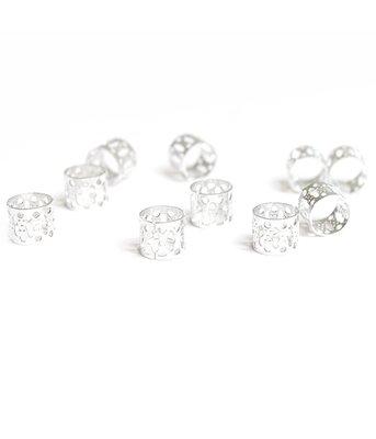 Bijoux de cheveux perles argent